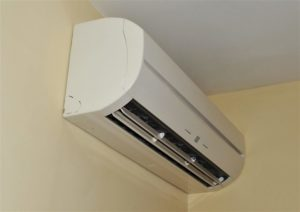 air conditioner on a wall in the interior
